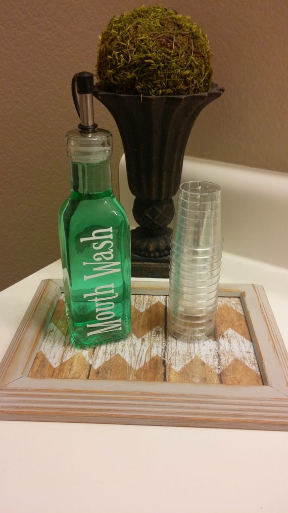 Mouthwash Glass Bottle W Spout