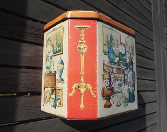 old Tin - antique iron box