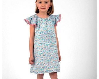 Girls Pink and turquoise Paisley Dress
