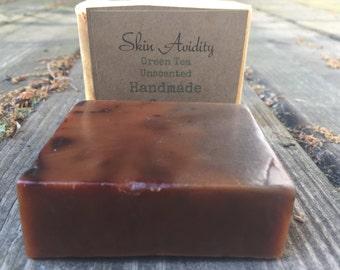Unscented Green Tea Handmade Soap, Sensitive Skin Soap, Green Tea Soap, Womens Soap, Mens Soap