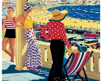 Vintage Australia Travel Poster Print