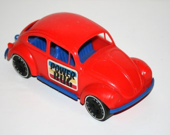 Vintage 1970's Amloid VOLKSWAGON VW BUG Beetle 8 1/2 Inch Long Plastic Toy Car