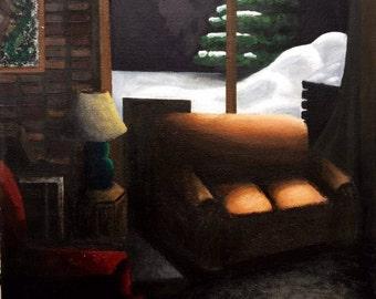 December Night - Original Acrylic Painting