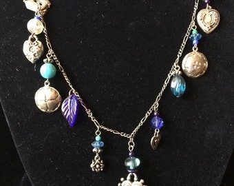 Cow boy charm necklace