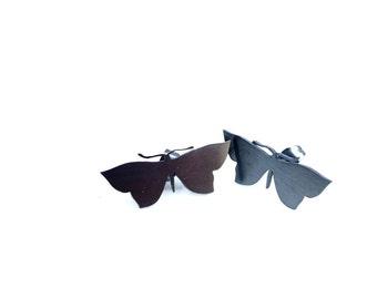 "Sterling Silver Designer Butterfly Earrings ""Transformations"""