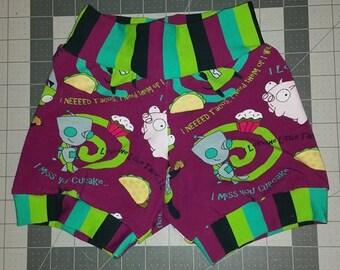 2t/3t BreezyBum baby shorts *Invader Zim