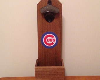 Wall Mounted Bottle Opener - Chicago Cubs