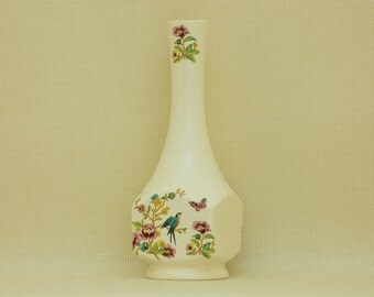 Wicklow Vale Ceramics Vase with Flowers, Birds and Butterflies