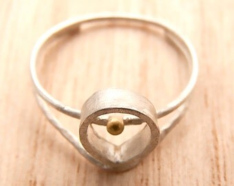 Drop ring, sterling silver , fine ring, hand made ring, gift for her,minimalist