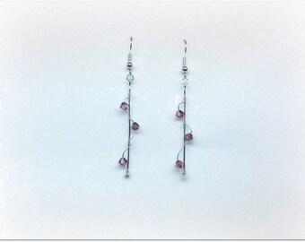 Pair of Austrian crystal earrings