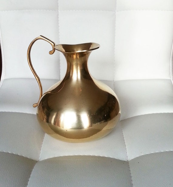 Solid brass pitcher home decor india hand made for Brass home decor