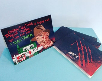 Freddy Krueger Nightmare on Elm Street Moving Card
