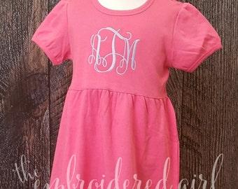 Pink Ruffle Empire Waist Dress