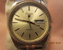 Vintage Two-Toned Pulsar Watch New Battery
