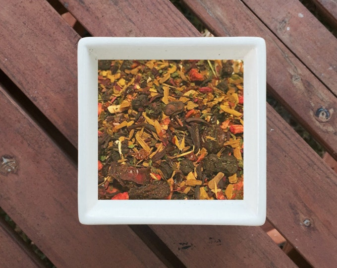 Featured listing image: Love is... - Organic Tea, Loose Leaf Tea, Berry Tea, Strawberry, Nettle, Cinnamon, Hibiscus, Cranberry, Schisandra, Rosehips, Herbal Tea