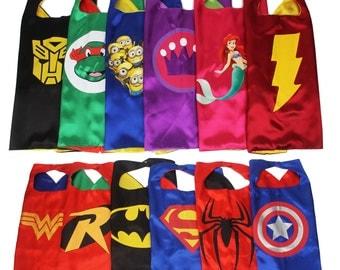 40 superhero styles! - SUPERHERO CAPE - Super Hero Cape - Boys & girls Cape-Custom Cape-Birthday Gift-Kid Cape-  Kids Gift-Superhero Costume