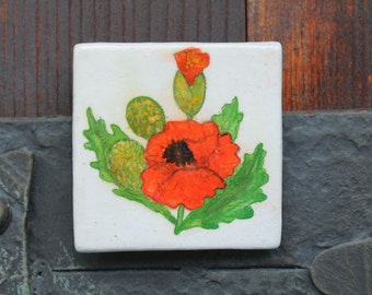 Fridge magnet 'Poppy'