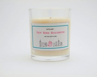 New York Bakehouse Scented 100% Eco friendly Soy Candle Handmade Sustainable