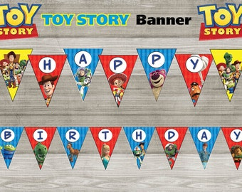 Instand DL -Toy Story Happy Birthday Banner Printable-  Printable (NON Personalized)