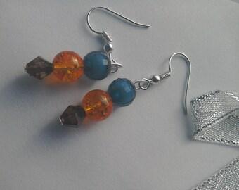 Mediterranean style fishhook earrings