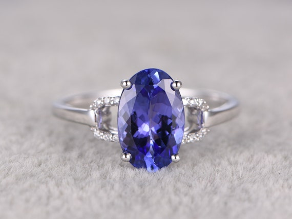 2.35ctw Oval Tanzanite Engagement ringDiamond Promise