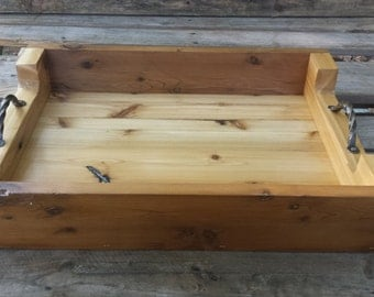 Rustic Cedar Serving Tray