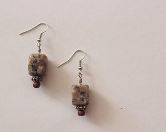Cube Stone Earrings