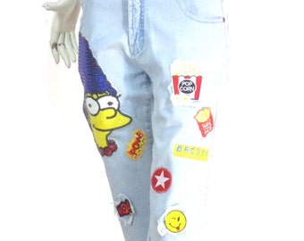Cropped ASKustom4U Chest Bart Simpson Size M