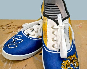 Custom Painted Kentucky University Shoes