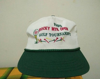 Rare Vintage 95' Rocky Mtn Open Golf Tournament Cap Hat Free size fit all