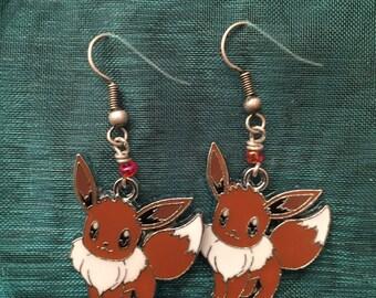 Cherry Red Eevee Earrings