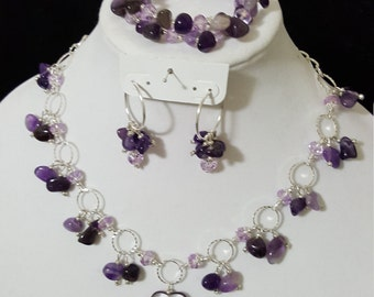 Purple Amethyst Set