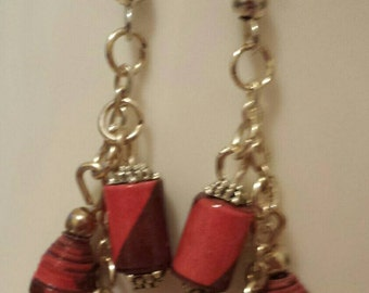 Earrings from paper beads(E10)