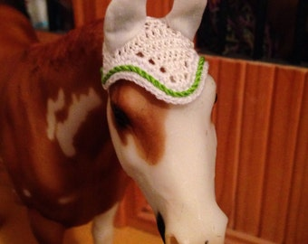 Breyer - Stone - model horse - fly bonnet - with cord rope trim