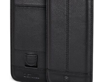 Apple iPhone 6s case, iPhone 6 sleeve leather, natural leather pouch case cover pouch leather case - DETUMA® Yahya vintage black