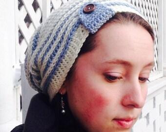 Crochet PATTERN - April hat, crochet hat pattern, slouchy beanie pattern, 2016 CAL, crochet spring hat pattern, easy crochet pattern