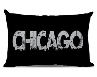 Chicago Pillow - Chicago Skyline Pillow - City Pillow - Urban Throw Pillow - Chicago Gift - City of Chicago