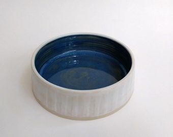 Blue and White Pet Dish