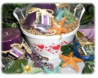 Valentine Candle Gift Basket-Aromatherapy