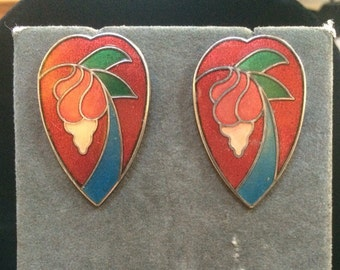 Retro Stained Glass Style Earrings