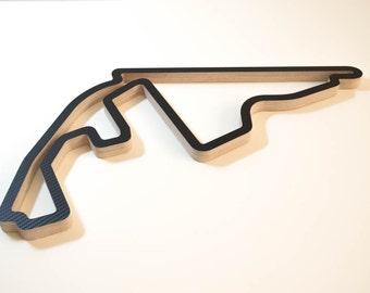 Yas Marina Abu Dhabi F1 Wooden Wall Art Formula One Racing Track Model Sculpture