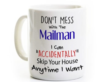 Mailman Gift - Mail Carrier Lady Coffee Mug Tea Cup - Funny Post Office Humor - Letter Carrier