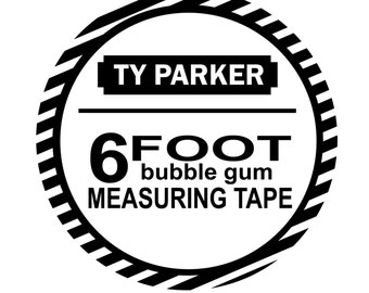 Personalized Measuring Tape Label for Bubble Tape