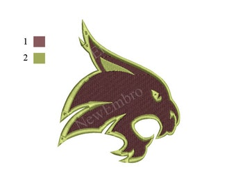 Texas state bobcats embroidery design - 4 sizes