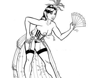 Color Me Burlesque Page- Original Ink