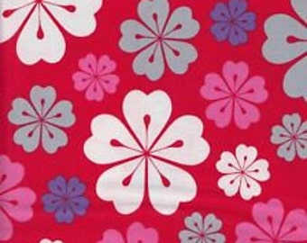 Fancy Flight, Robert Kaufman Organic Cotton, Hawaiian Flowers