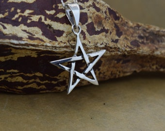 Sterling Silver Pentacle Pendant with Chain
