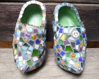 Mosaic Dutch Clogs, Home Decor, Glass tiles