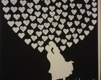 Silhouette Wedding Guest Book