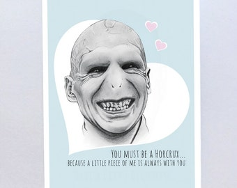 Harry Potter Voldermort Valentines Card